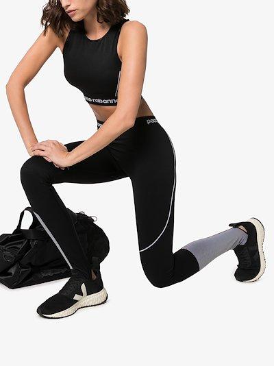 logo detail panelled sports leggings