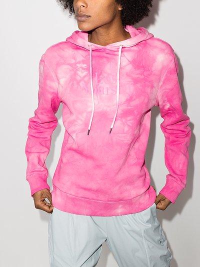 Lose Yourself printed tie-dye hoodie