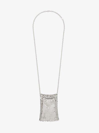 mesh pendant necklace
