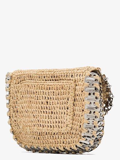 neutral 1969 straw cross body bag