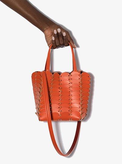 orange Pacoïo leather tote bag
