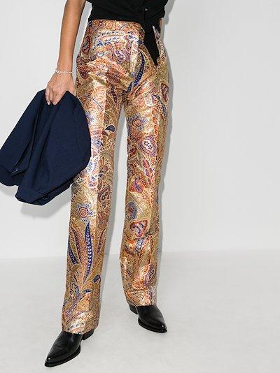 paisley print trousers