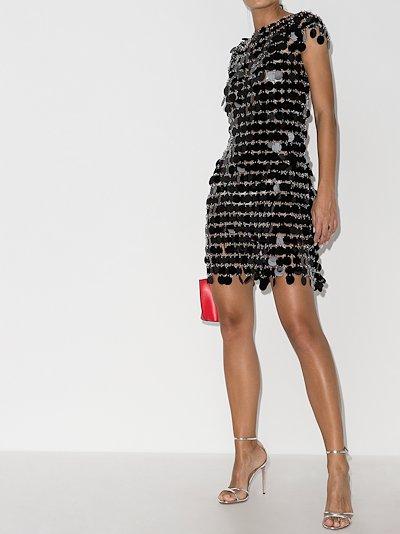 sequin chain mail mini dress