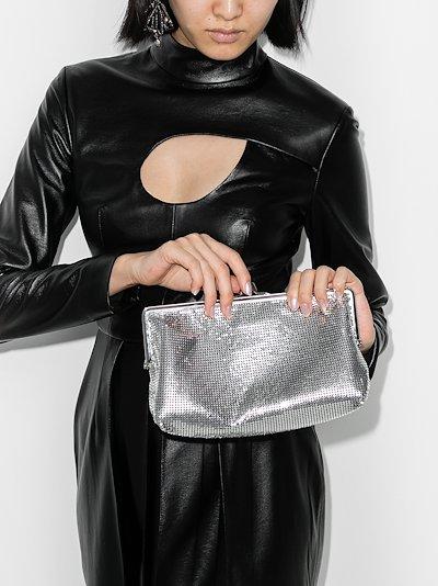silver Pixel 1969 clutch bag