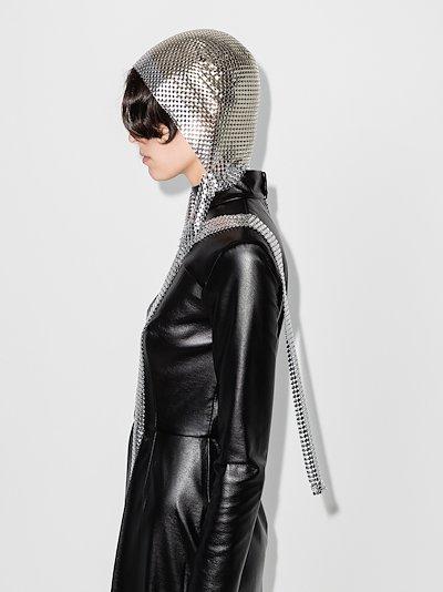 silver tone chainmail headband