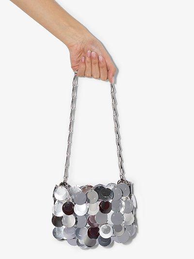 silver tone Nano 1969 Sparkle disc bag