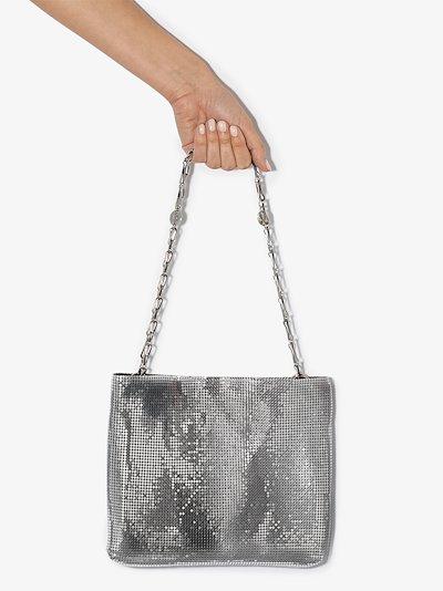 Silver tone Pixel 1969 chain mail shoulder bag