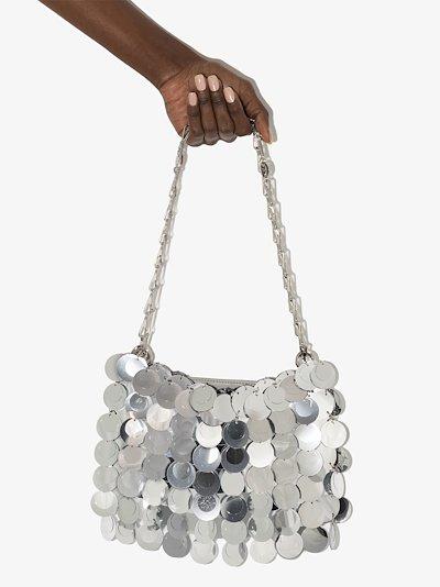 Silver Tone Sparkle 1969 Shoulder Bag