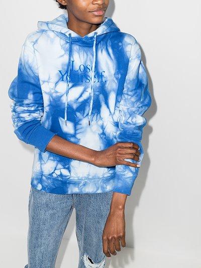 X Peter Saville Lose Yourself tie-dye hoodie