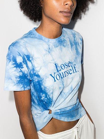 X Peter Saville Lose Yourself tie-dye T-shirt