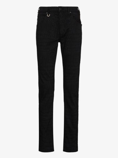 Lennox croc effect slim leg jeans