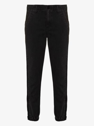 Mayslie velvet stripe track pant jeans