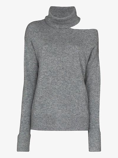 Raundi cold shoulder turtleneck sweater