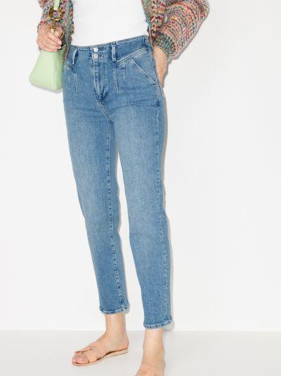 Sarah pleated straight leg jeans