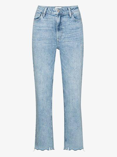 Sarah raw hem cropped jeans