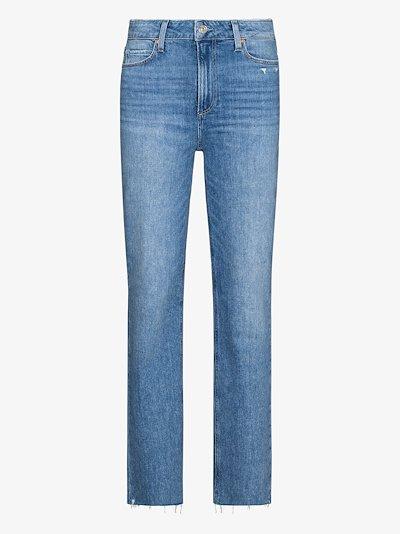 Sarah raw hem jeans