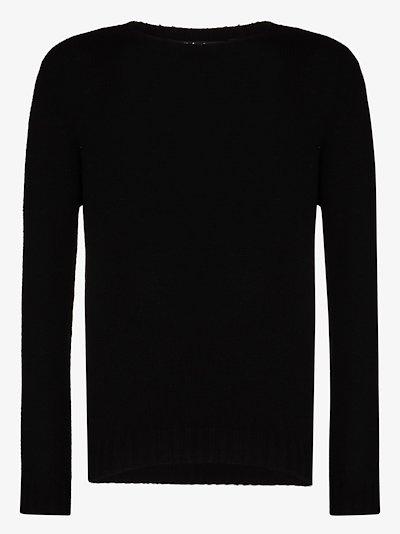 back logo intarsia sweater
