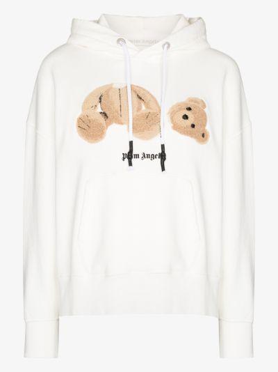 bear appliqué hoodie