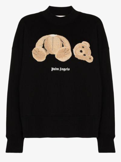 bear appliqué sweatshirt