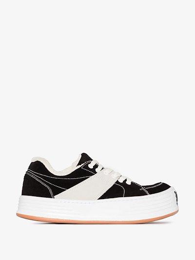 black Snow low top suede sneakers