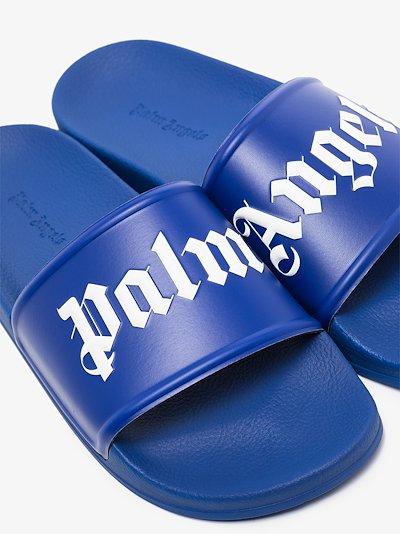 blue logo print slides