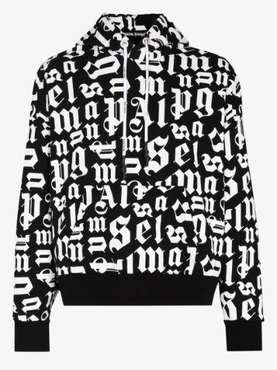 Broken Monogram logo hoodie