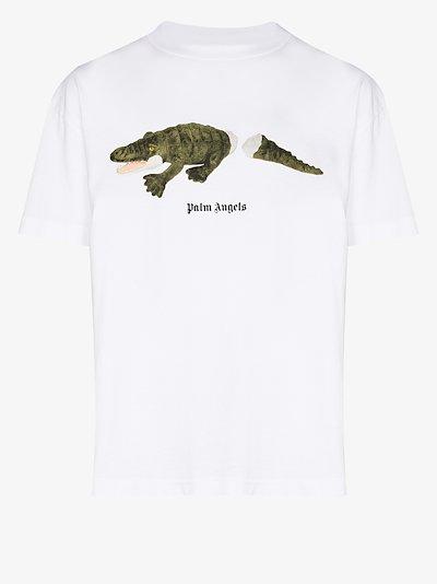 Crocodile logo print T-shirt