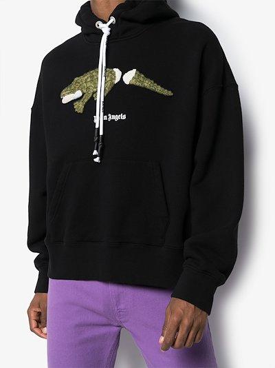 crocodile print hoodie