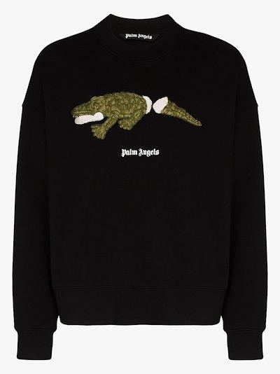 embroidered crocodile sweatshirt