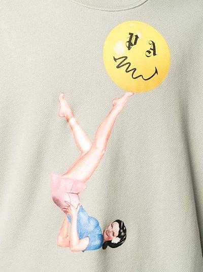 Juggler Pin-Up print sweatshirt