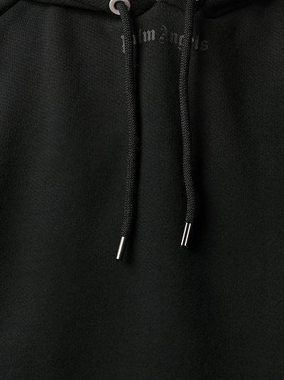 logo print oversized hoodie