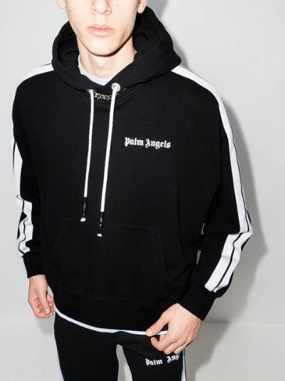side-stripe hoodie