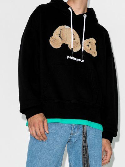 teddy-print hoodie