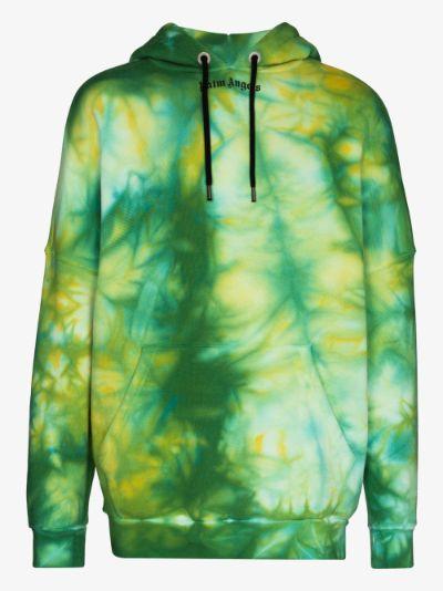 tie-dye logo print hoodie