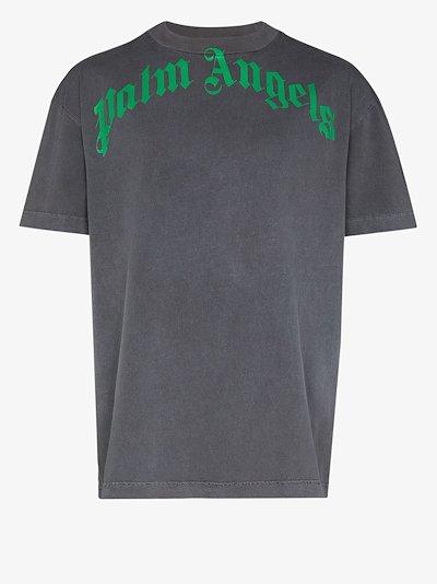 vintage wash logo print T-shirt