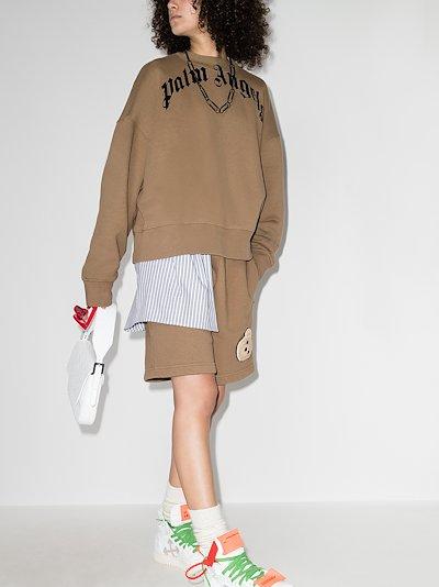X Browns 50 bear appliqué sweatshirt