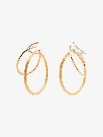 gold-plated Stellar Trinity hoop earrings