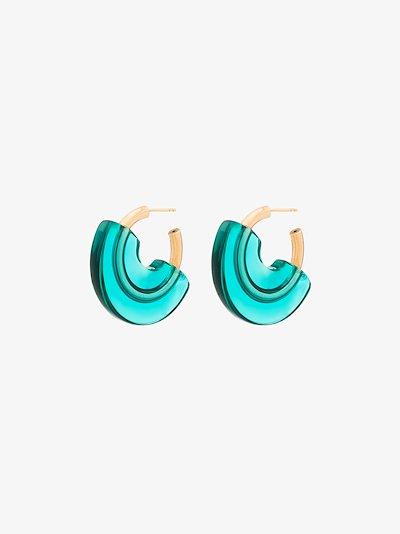 Gold Vermeil layered hoop earrings