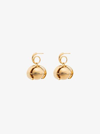 gold vermeil open drop earrings