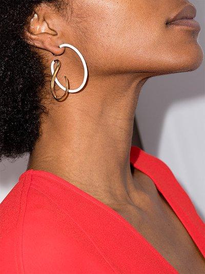 gold vermeil upside down hoop earrings