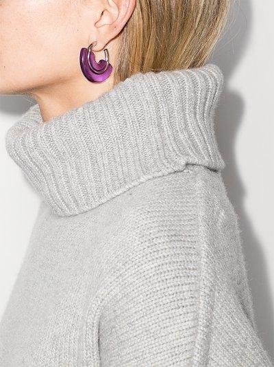 sterling silver layered hoop earrings