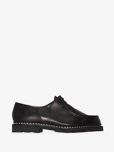 black Michael lace-up leather shoes