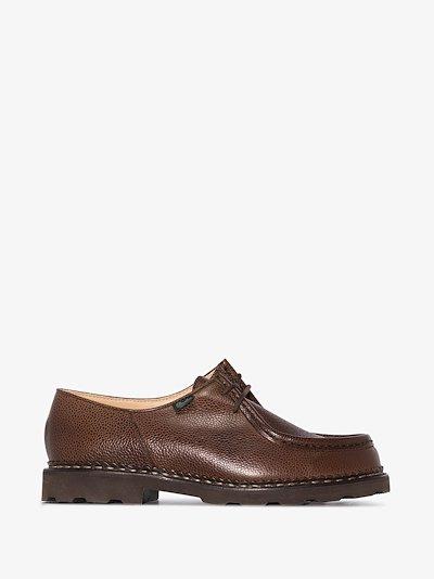 brown Michael Grain lace-up shoes