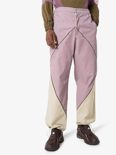 diamond wide leg trousers