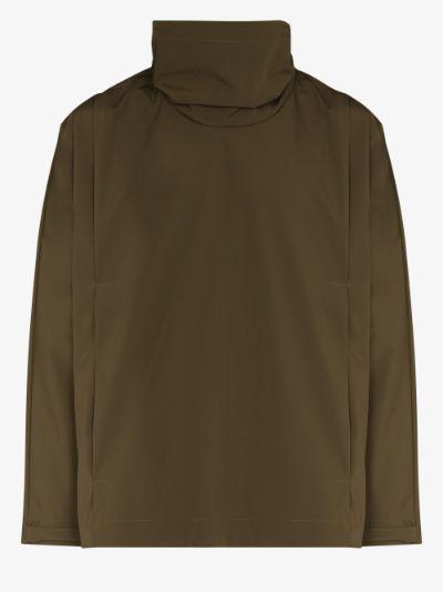 high neck hooded jacket