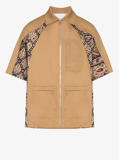 Iranian pleat shirt jacket