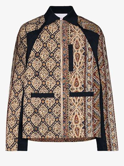 Iranian print zip-up jacket