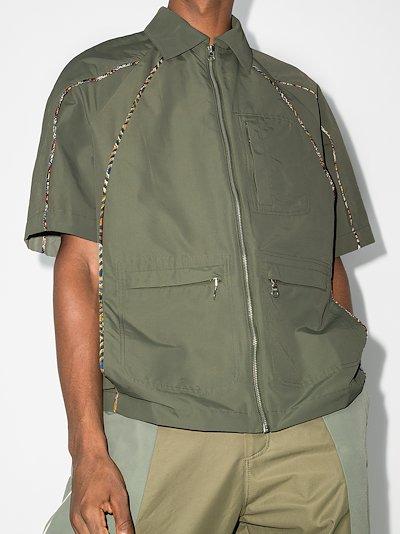 piped shirt jacket