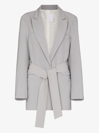 oversized belted blazer