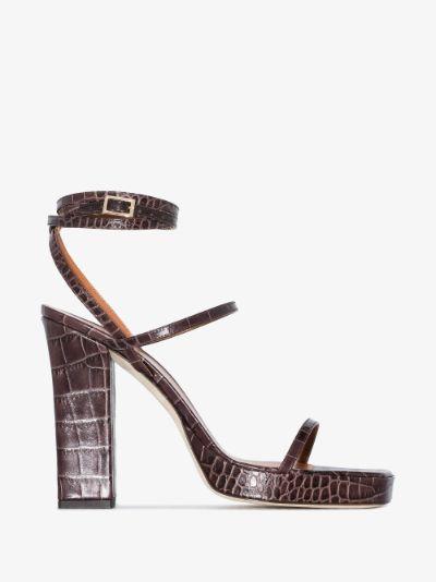 brown Bianca 110 platform leather sandals
